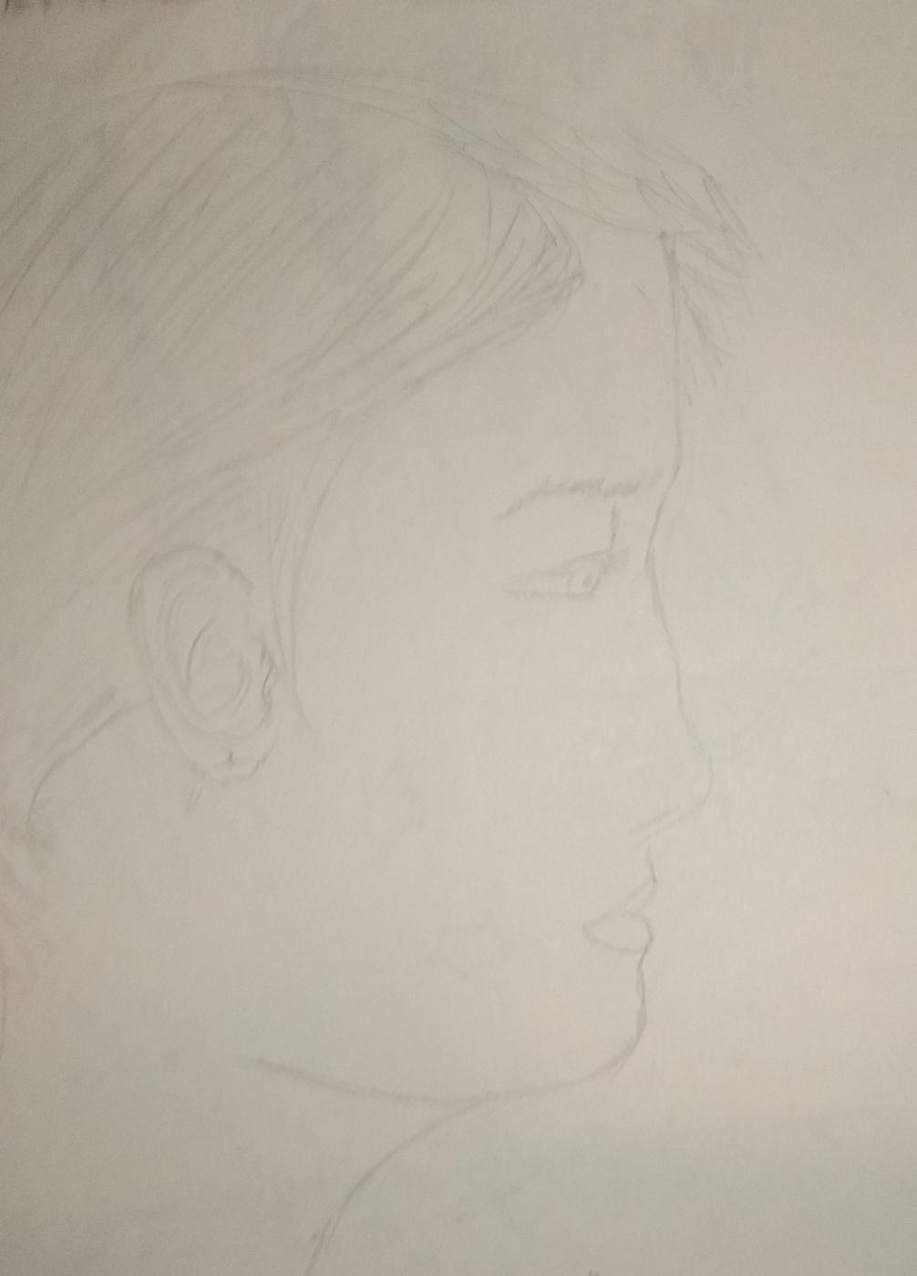 Zina Vladimirovna Parisva. Girl 3. Sketch