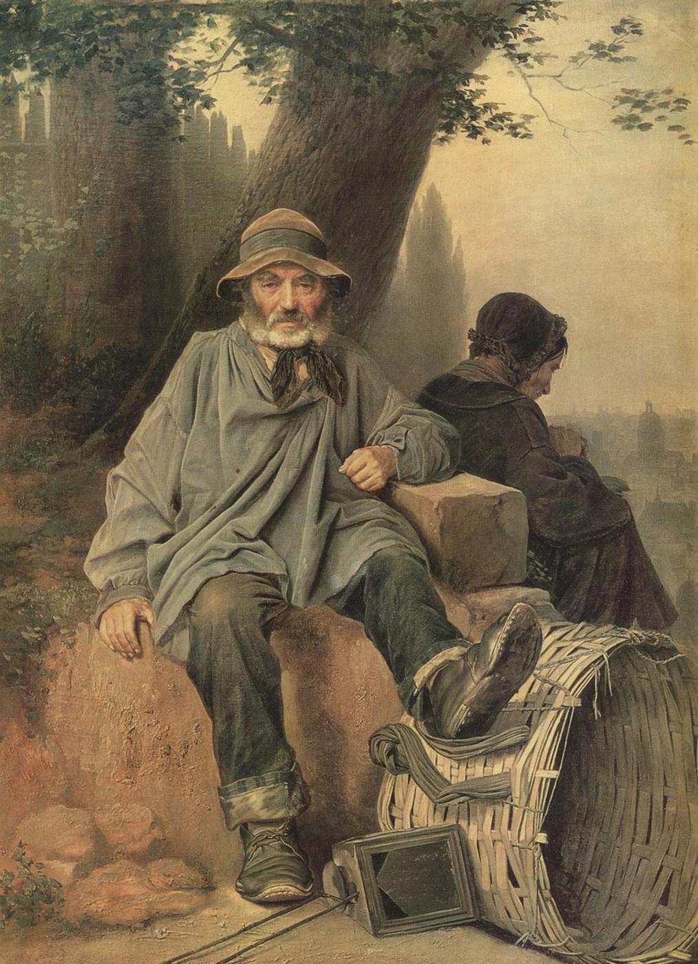 Vasily Grigorievich Perov. Parisian rag-pickers