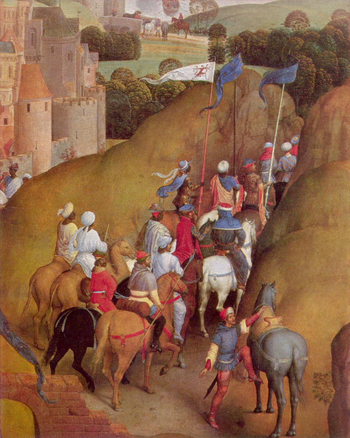 Hans Memling. Advent and Triumph of Christ or the Seven joys of Mary. Fragment