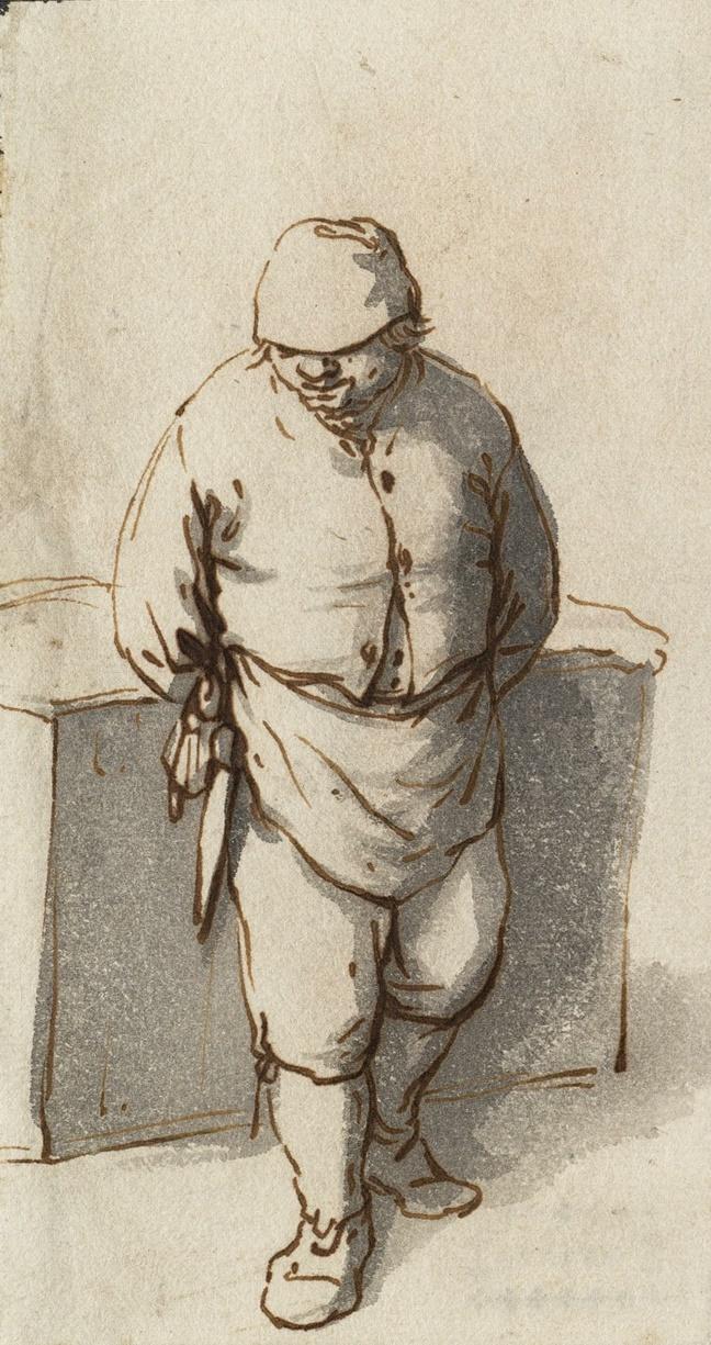 Adrian Jans van Ostade. Standing peasant
