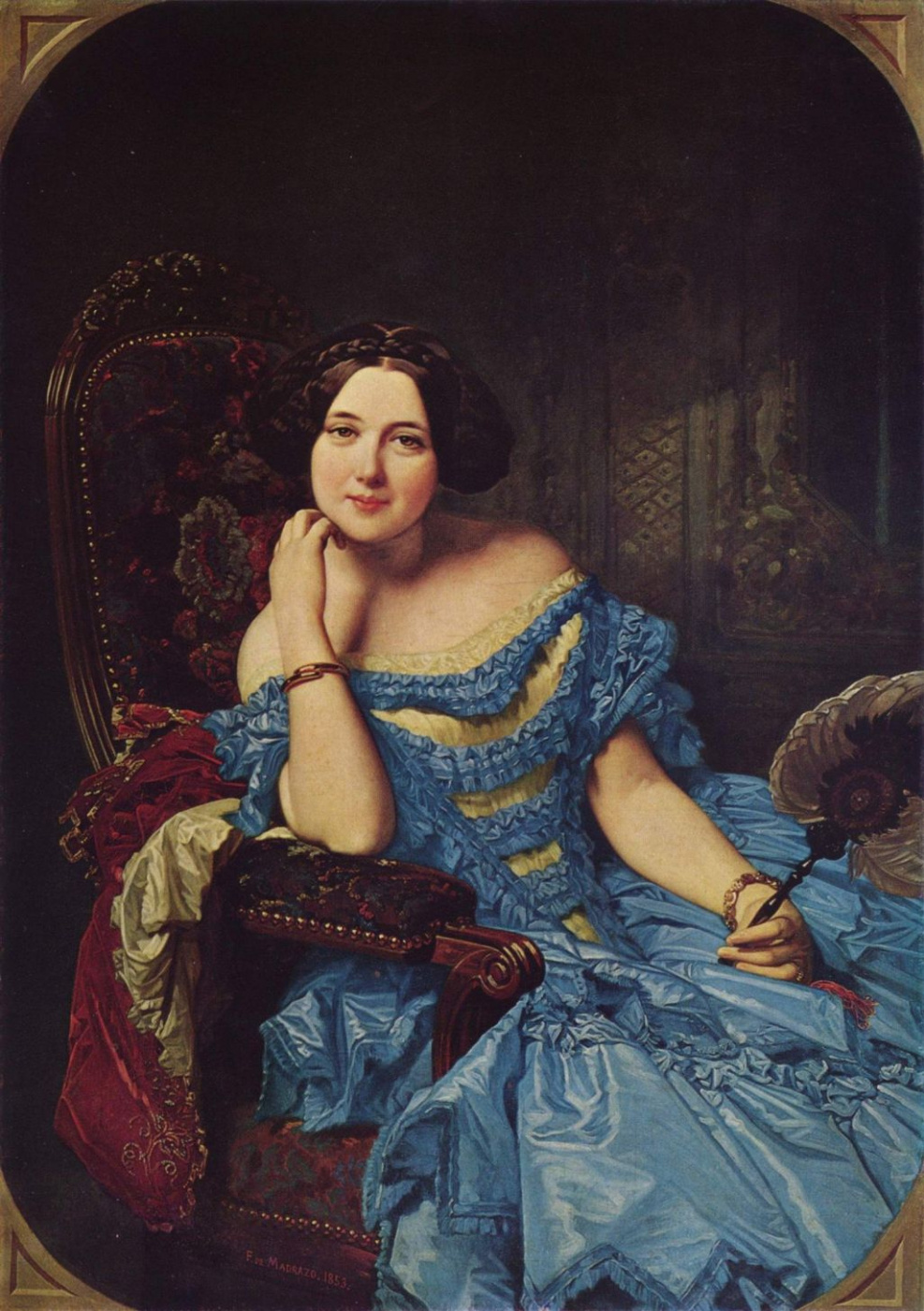 Federico de Madraso y Coones. Doña Amalia de Lano and Dotres, the Princess de Vilches