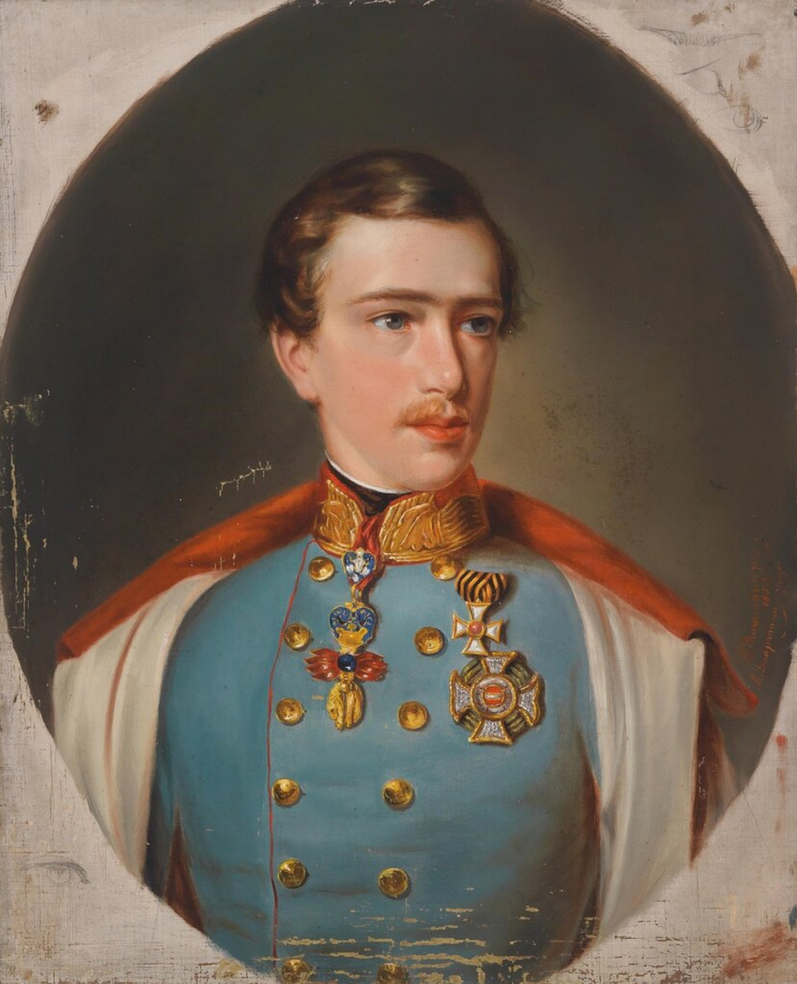 Unknown artist. Young Emperor Franz Joseph I in uniform