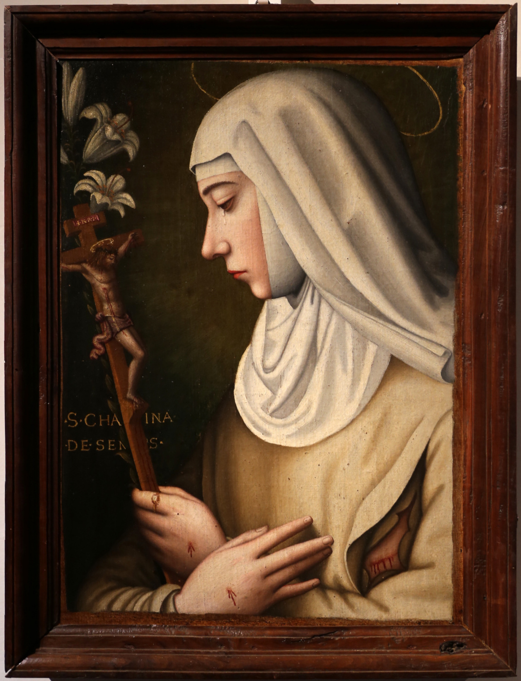 Plautilla Nelly. Saint Catherine with the Crucifixion