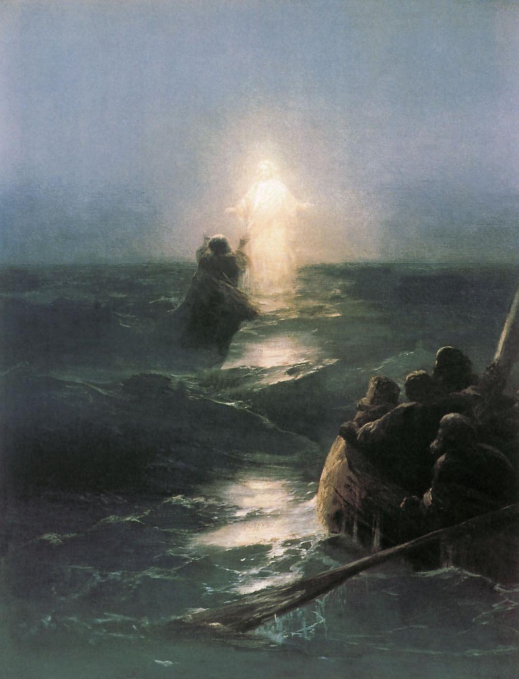 Ivan Aivazovsky. Walking on water