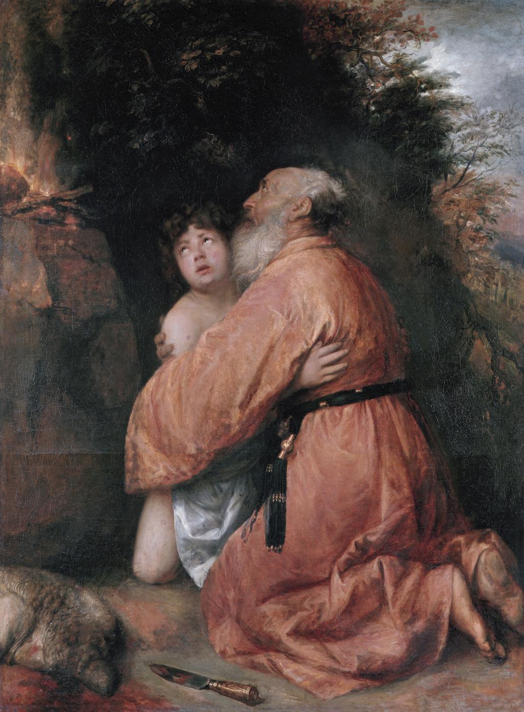 Jan Lievens. Abraham sacrifices a lamb instead of Isaac