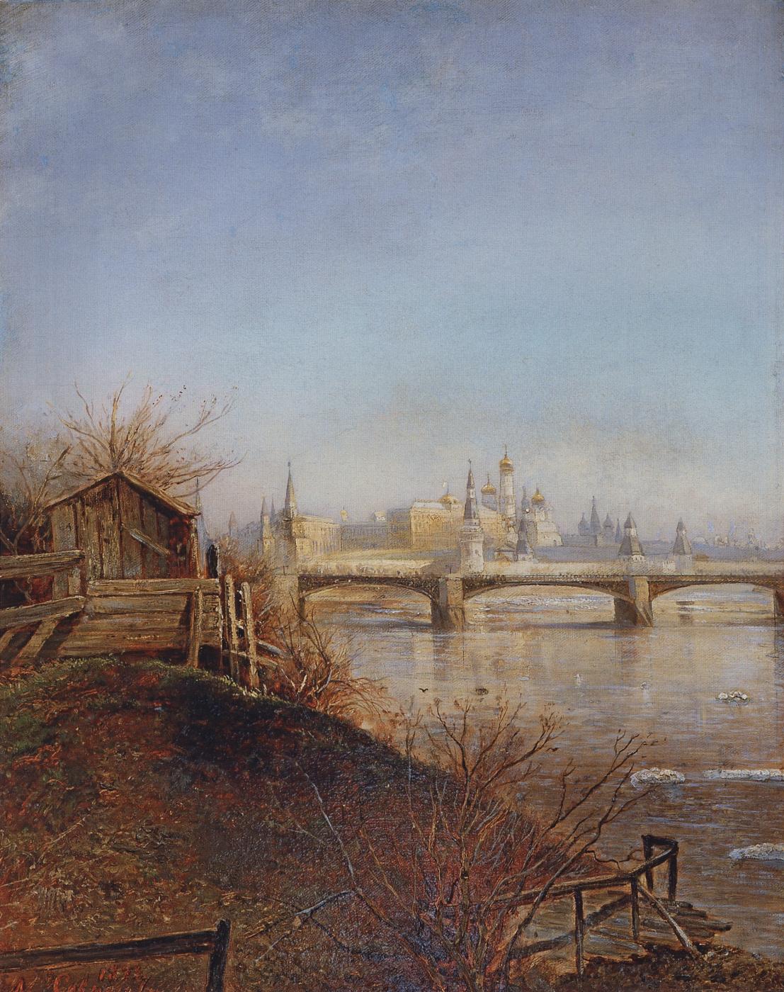 Alexey Savrasov. View of the Moscow Kremlin. Spring