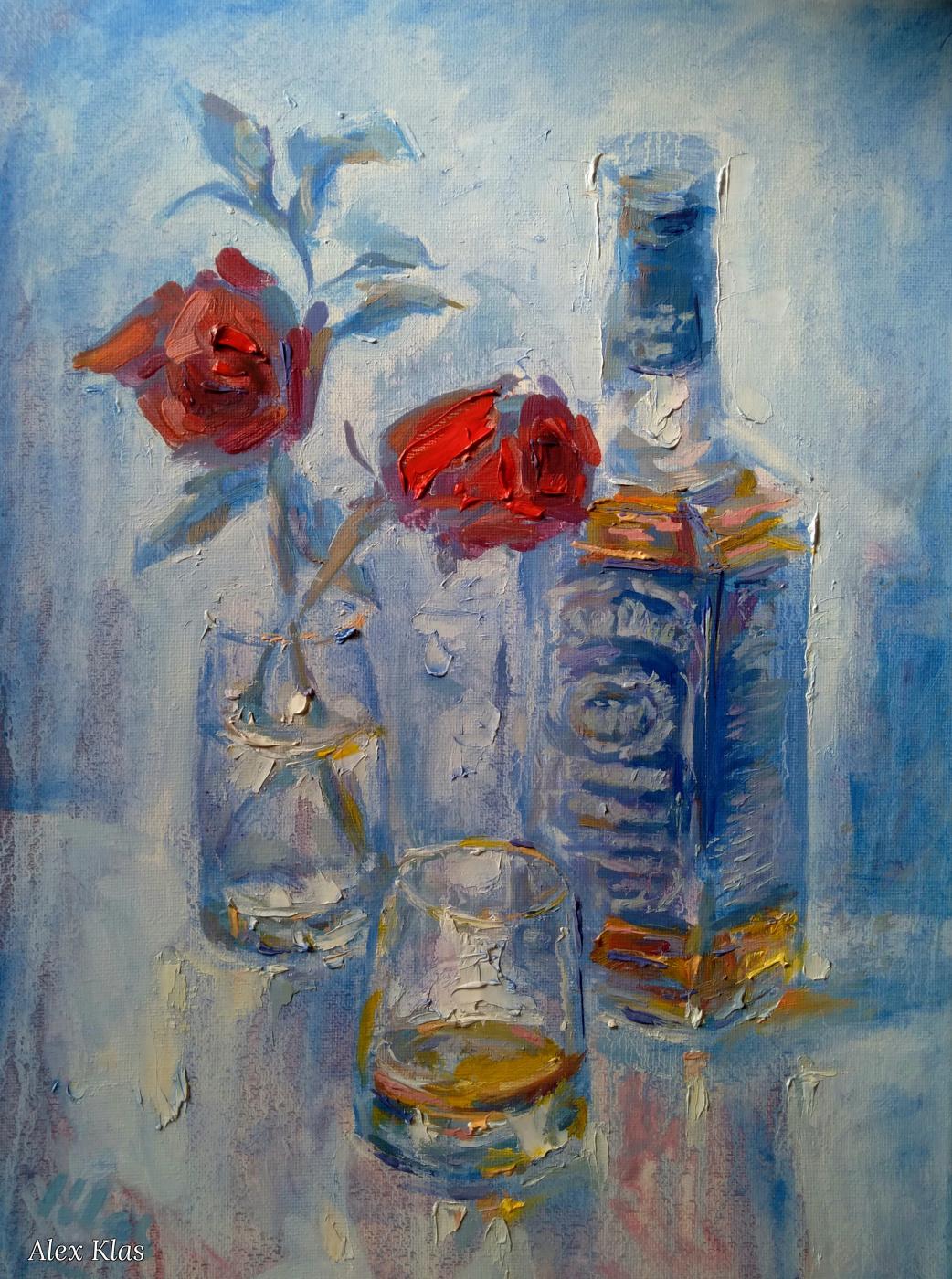 Alex Klas. Shot glass of Jack