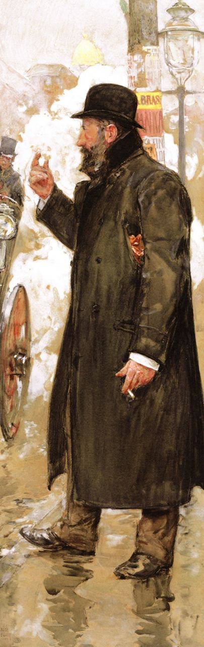 Чайльд Гассам. Мужчина, стоящий на улице