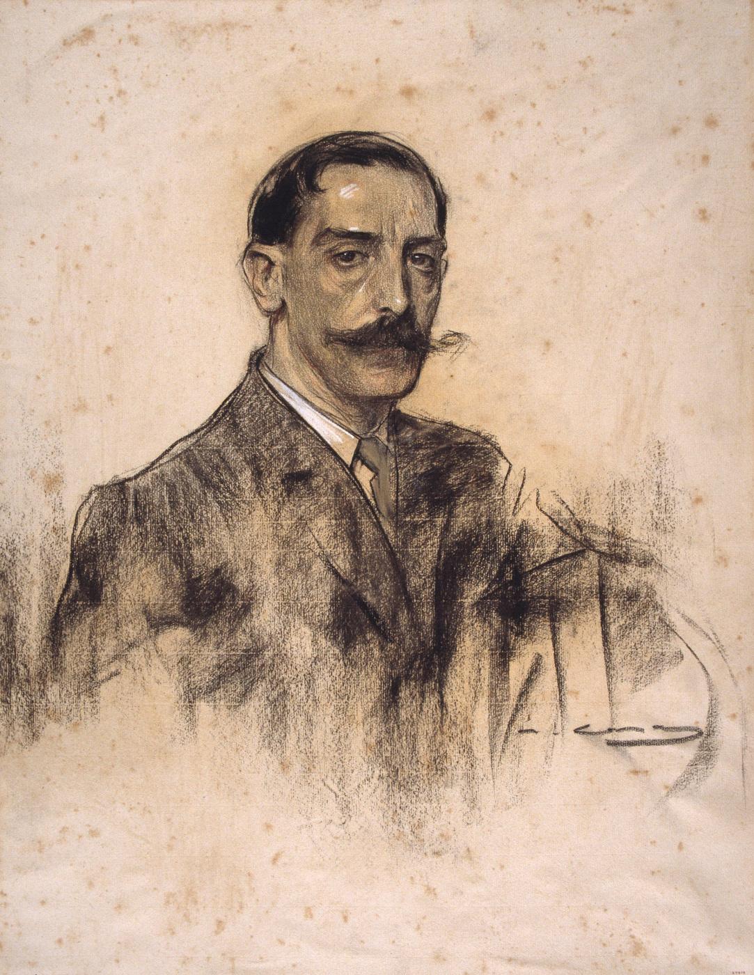 Ramon Casas i Carbó. Portrait of Joaquim Malac