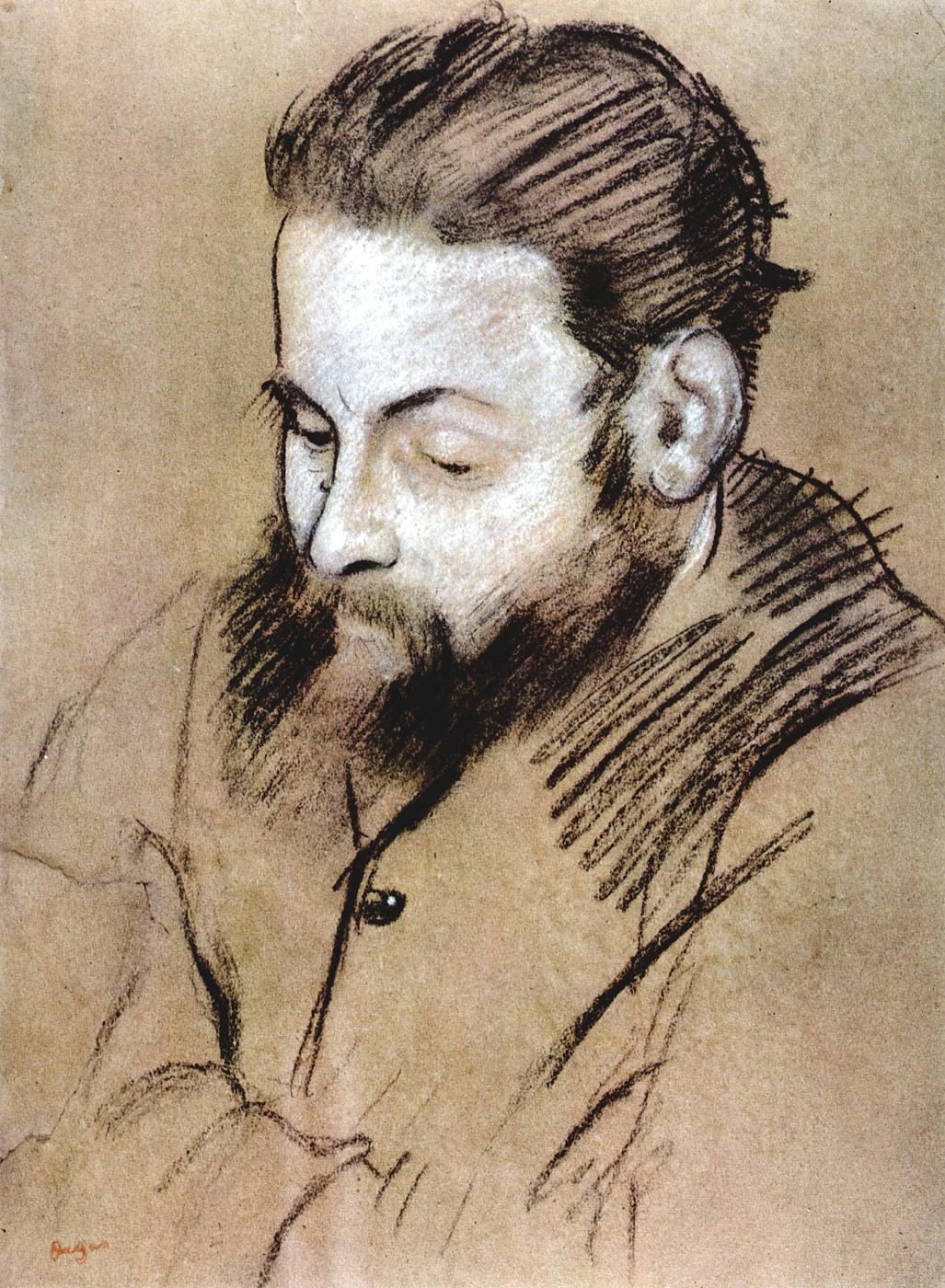Edgar Degas. Portrait Of Diego Martelli