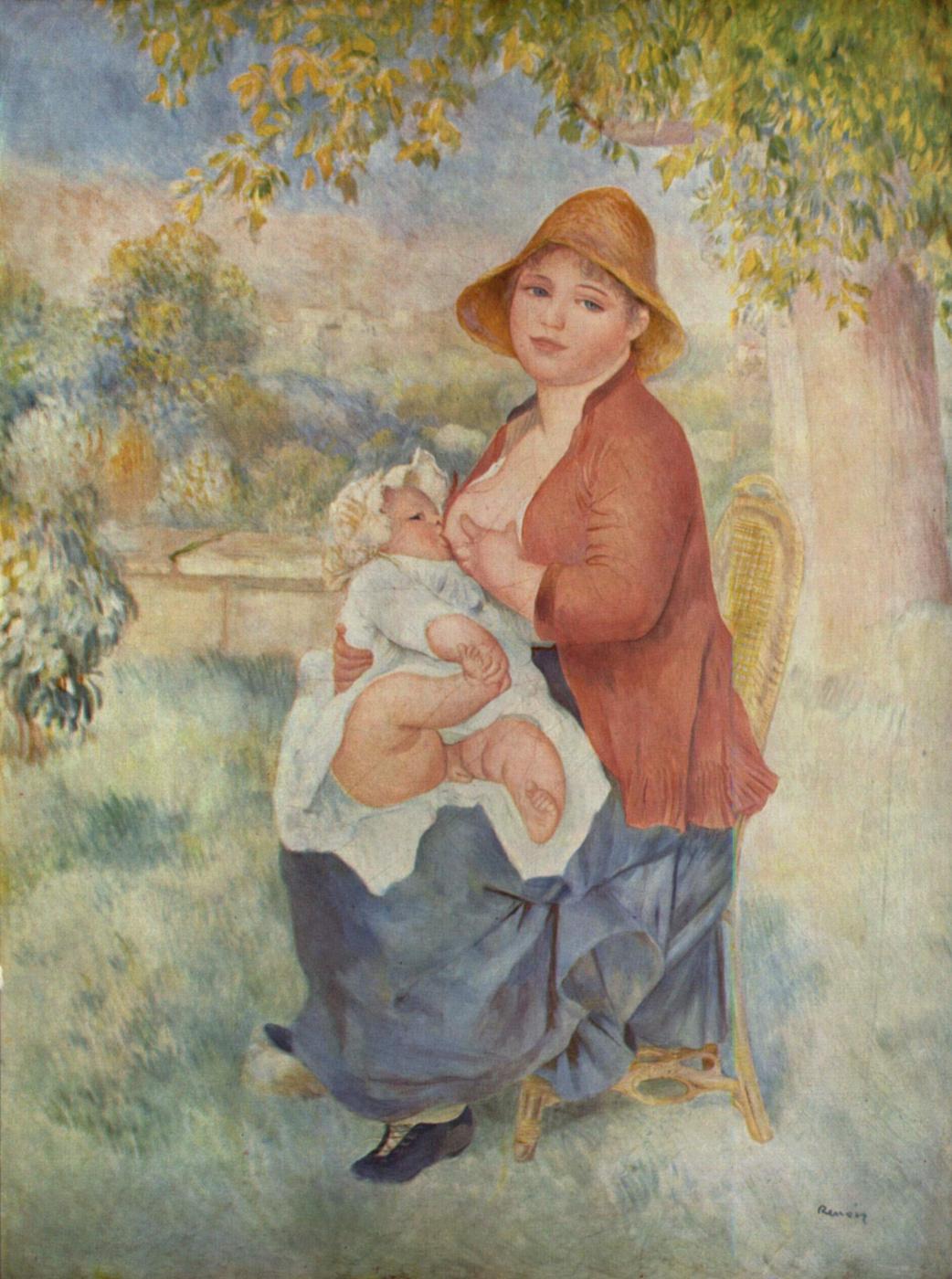 Pierre-Auguste Renoir. Motherhood (Aline and Pierre)