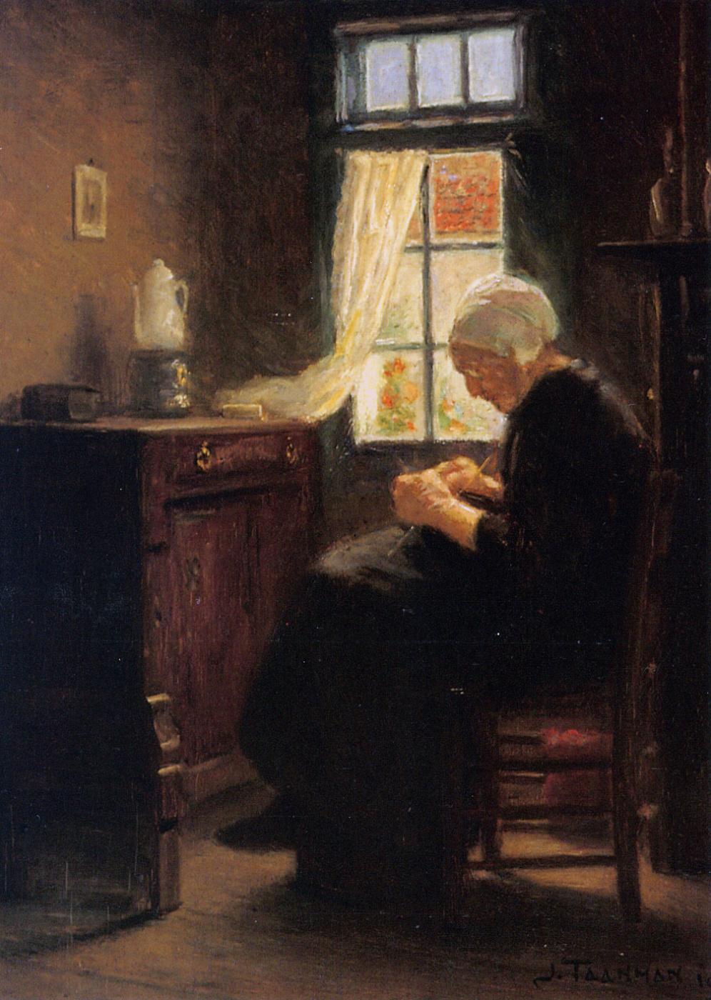 Jacob Taanmann. An elderly woman
