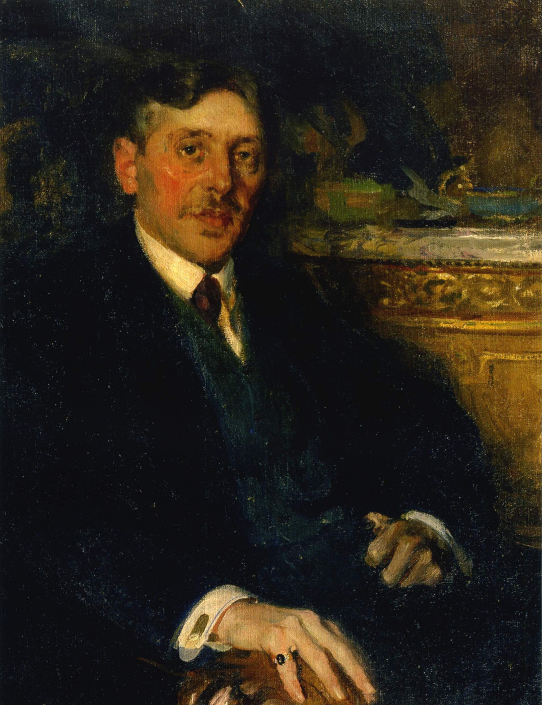 Pavel Dmitrievich Shmarov Russia-France 1874-1950. Male portrait. 1919