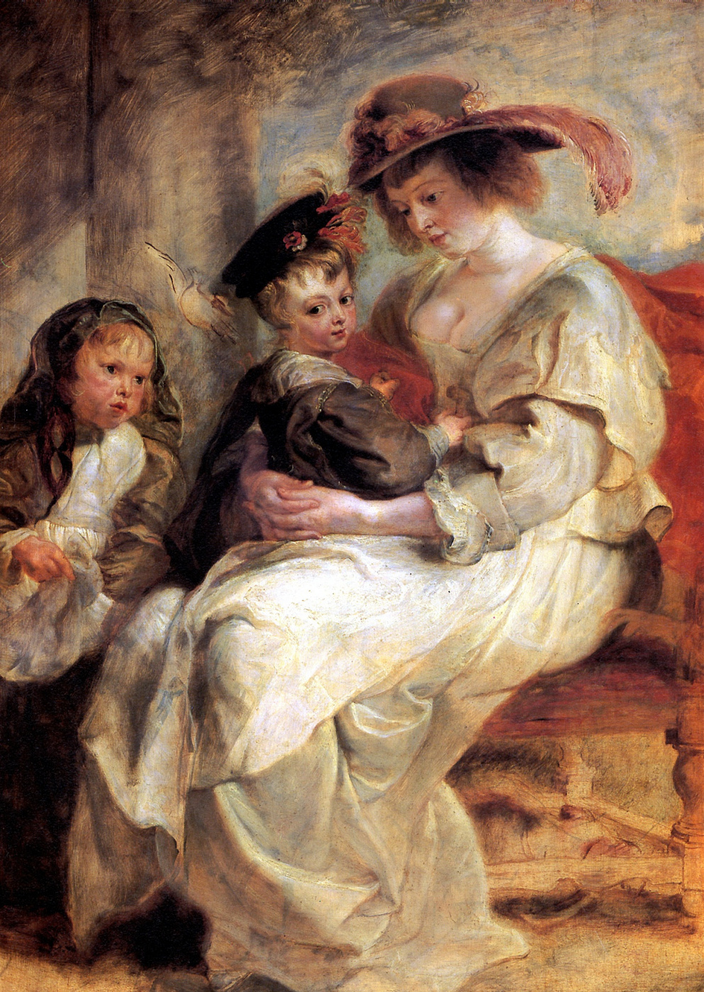 Peter Paul Rubens. Helena Fourment with children Claire-Jeanne and Francois