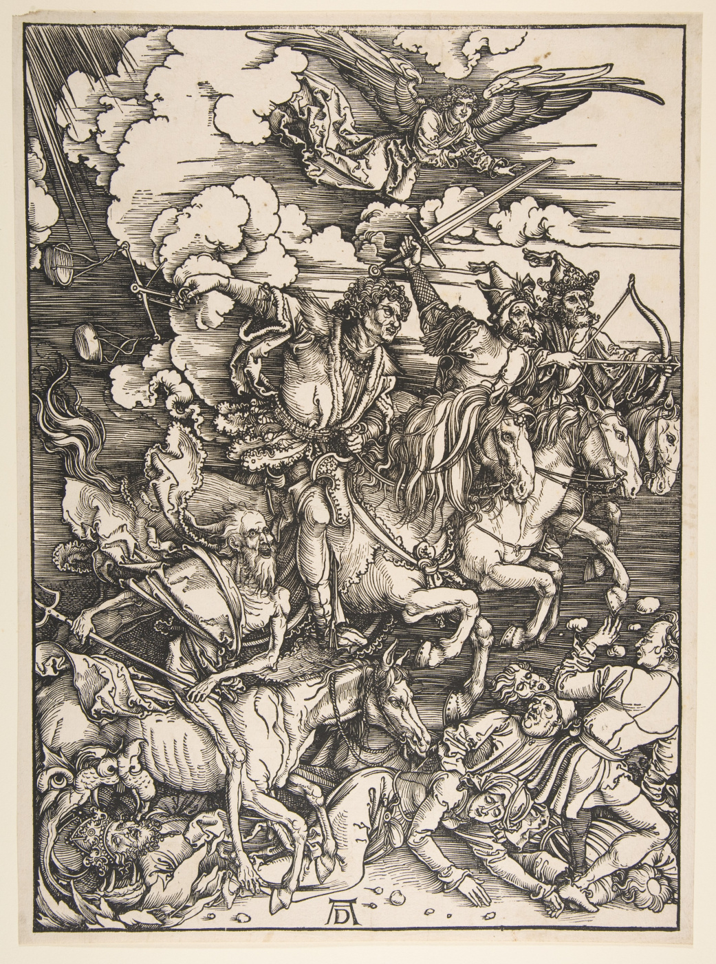 Albrecht Dürer. The four horsemen of the Apocalypse.From the series the Apocalypse.