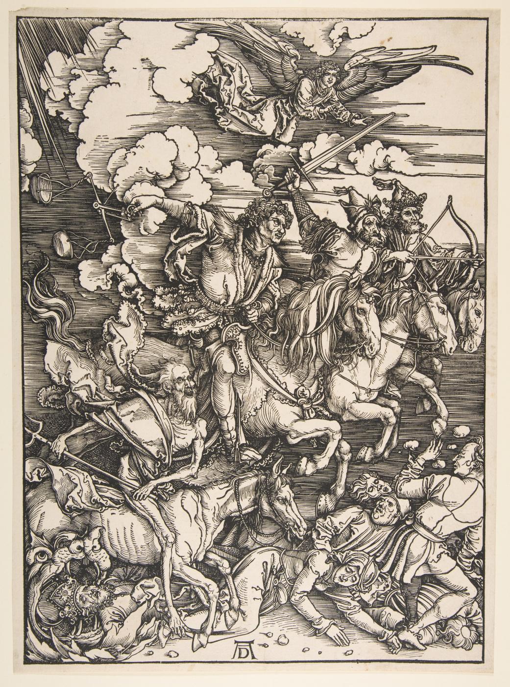 Albrecht Durer. The four horsemen of the Apocalypse.From the series the Apocalypse.