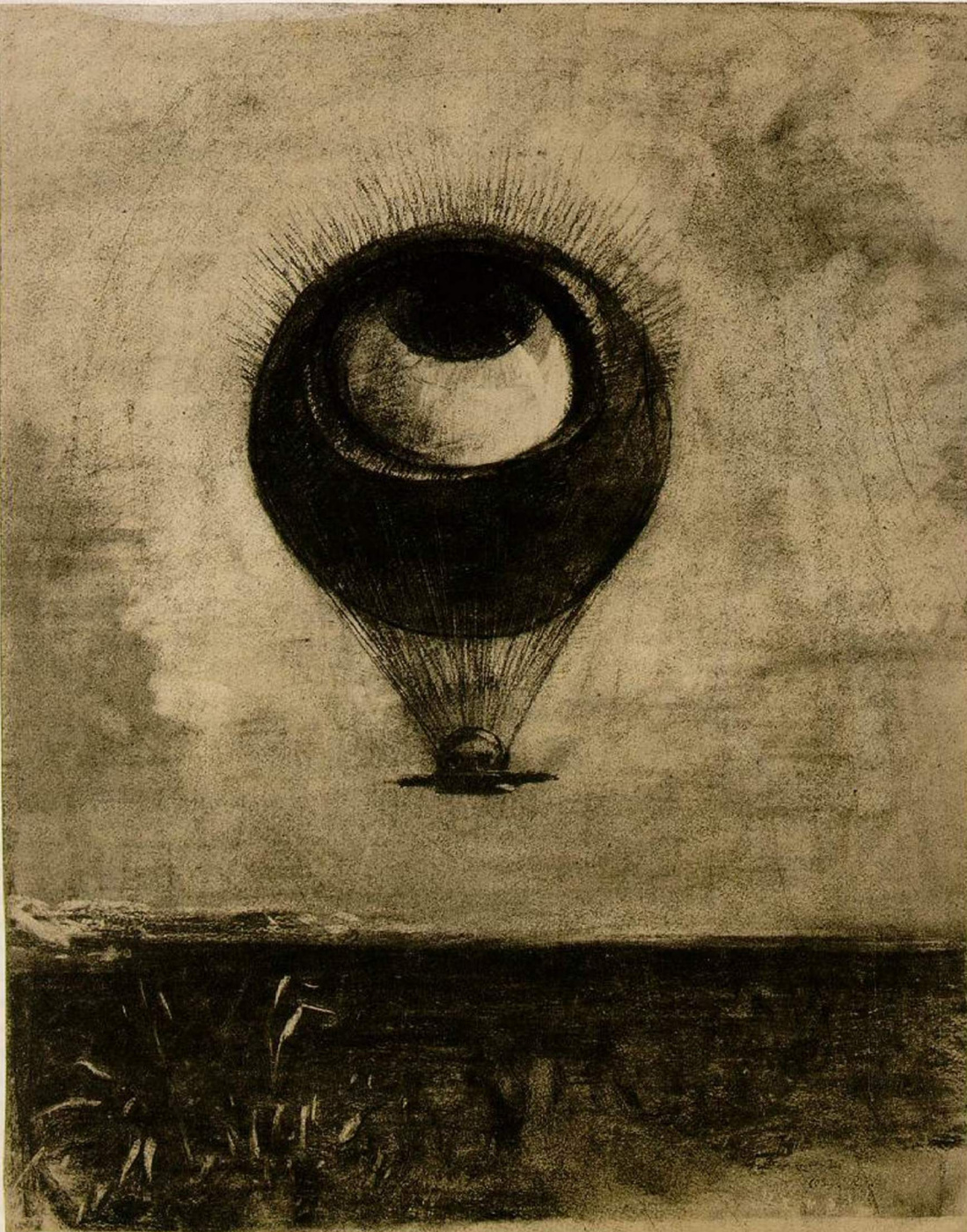 Odilon Redon. Eye-balloon