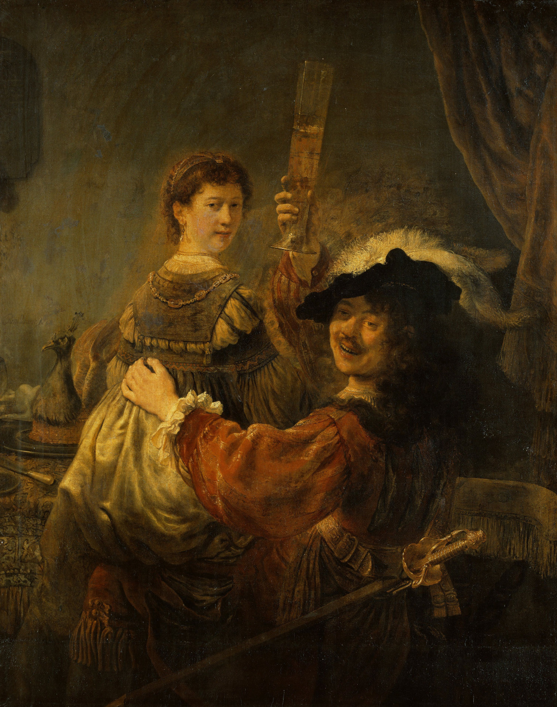 Rembrandt Harmenszoon van Rijn. The Prodigal Son in the Tavern (Self Portrait with Saskia on her Lap)