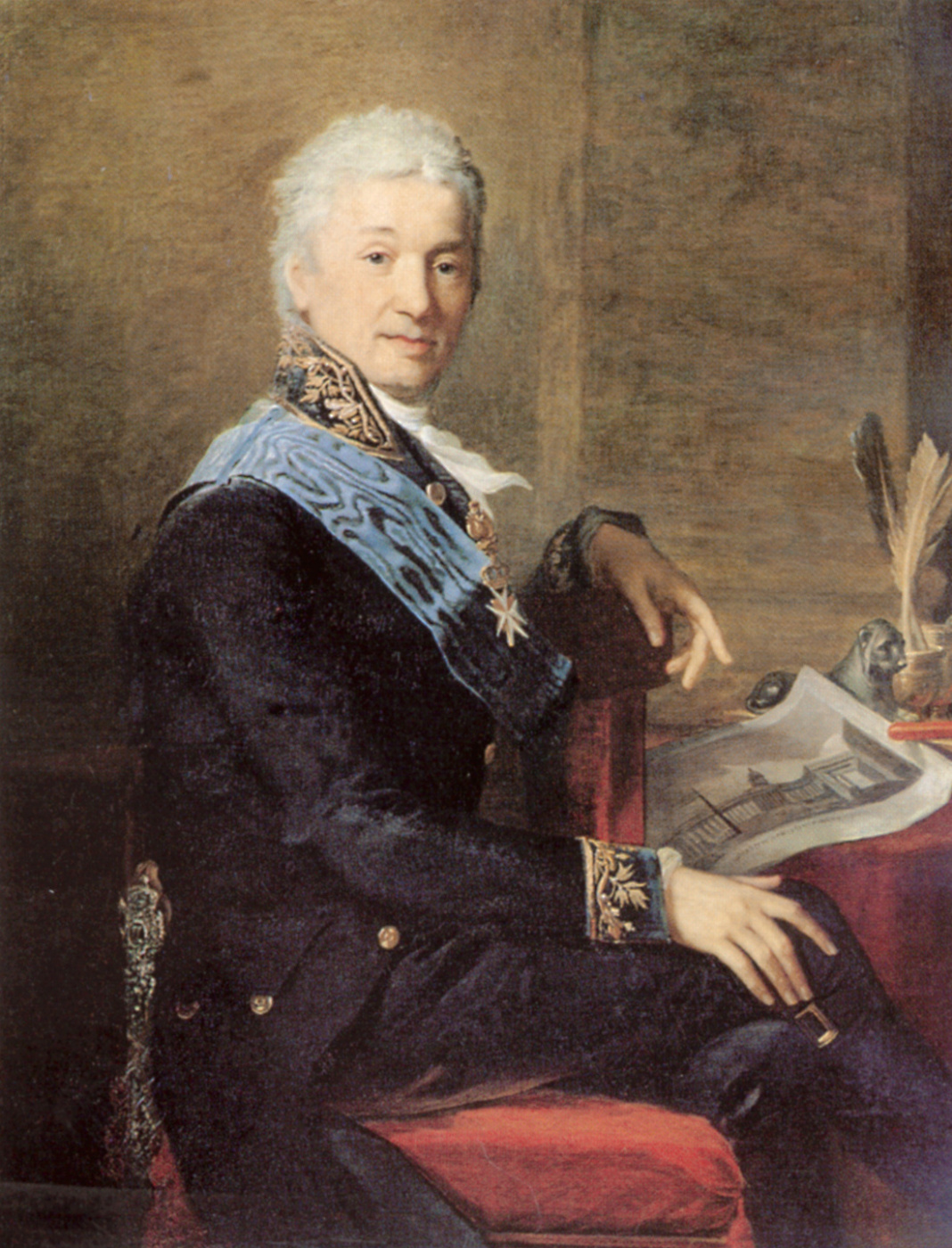 Jean Monje. The portrait of the President of the Academy of arts of count Alexander Stroganoff