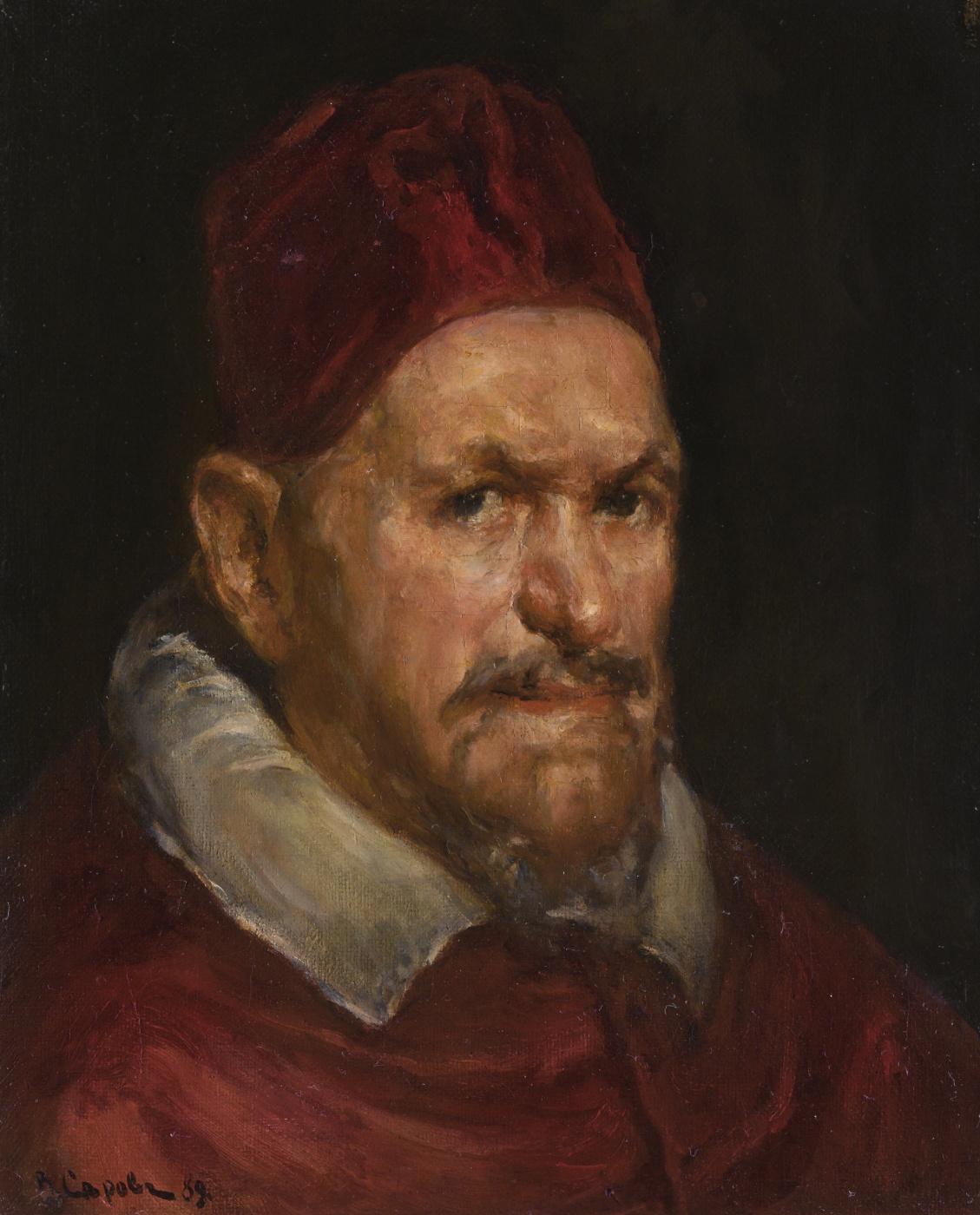 Valentin Serov. Portrait of Pope Innokentija the (copy of the painting by Velasquez)
