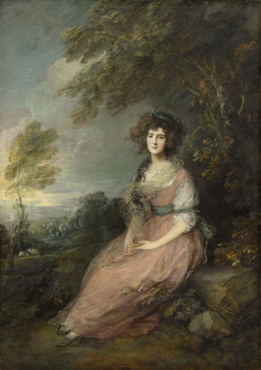 Thomas Gainsborough. Portrait of Mrs. Richard Brinsley Sheridan