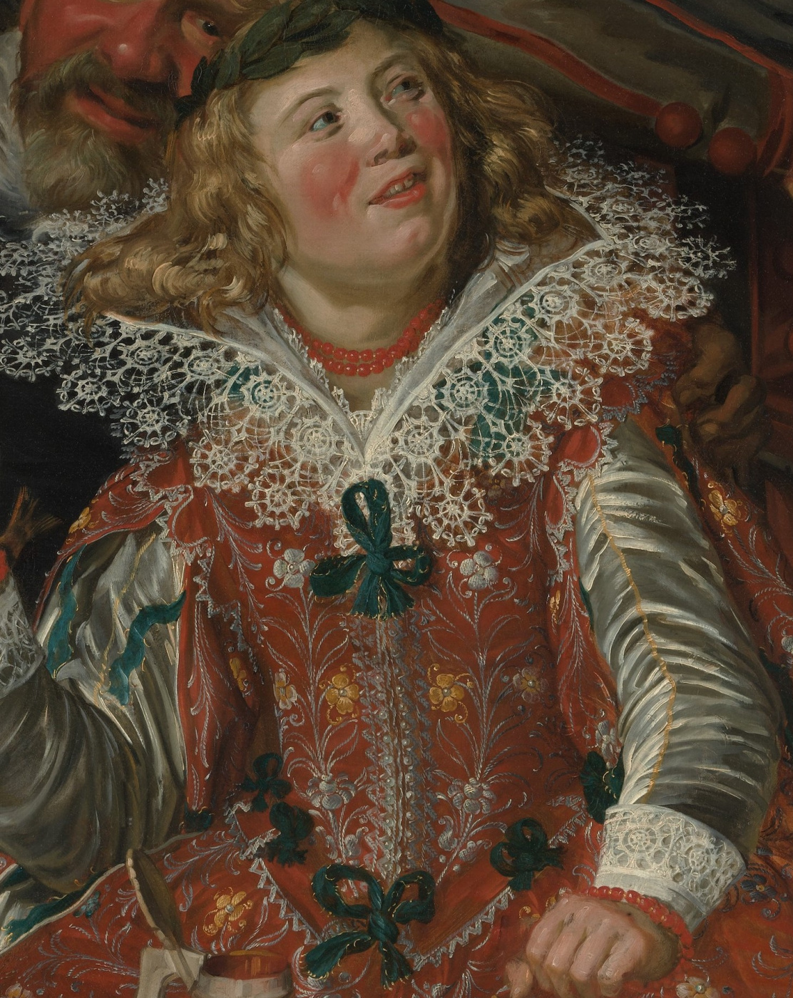 Frans Hals. Jolly Shrovetide (Merry Society). Fragment 2. Portrait of a girl