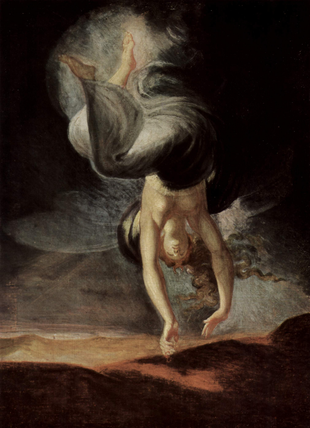 Johann Heinrich Fuessli. The fairy Queen Titania finds on the seashore a magic ring