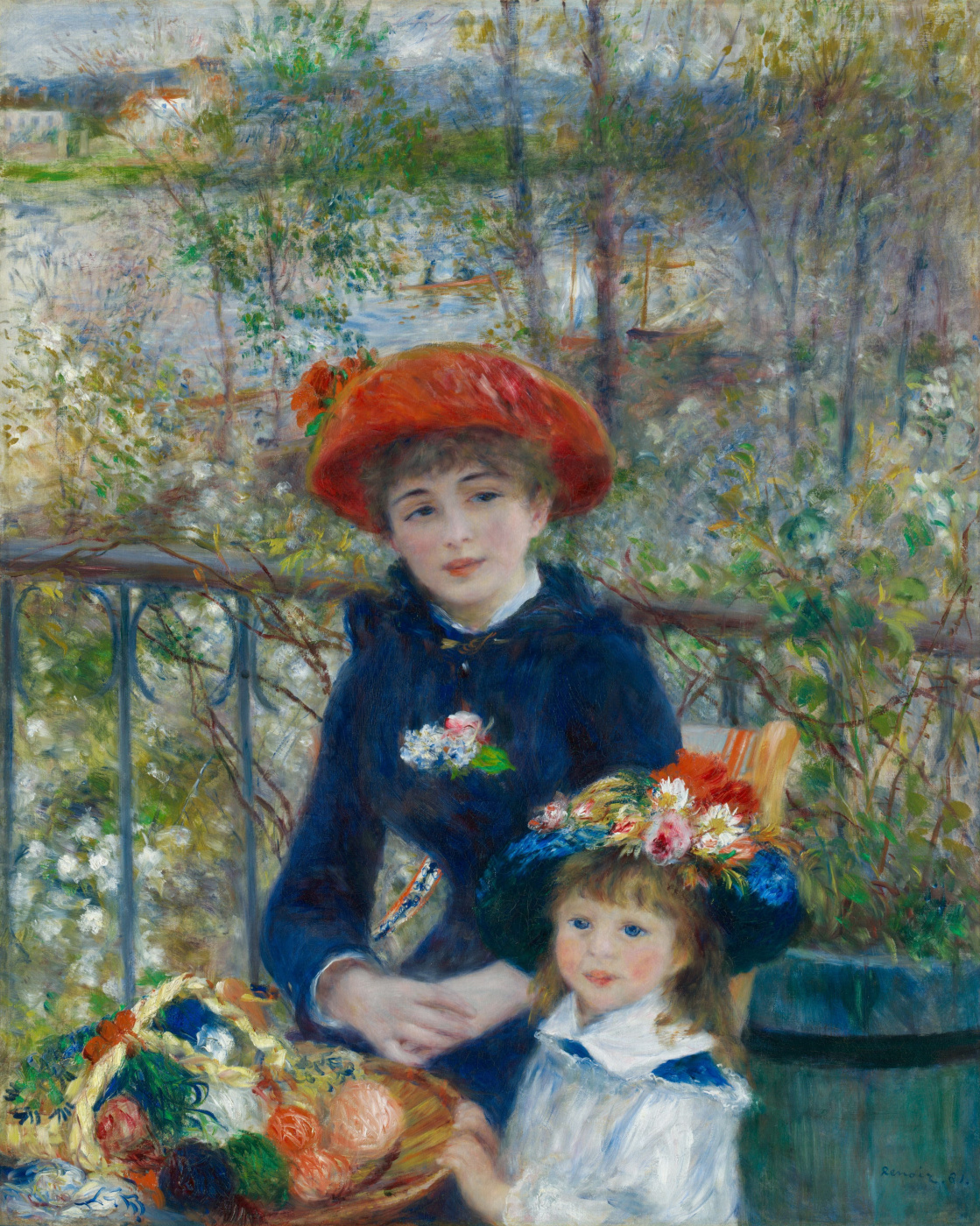 Pierre-Auguste Renoir. Two sisters (On the terrace)