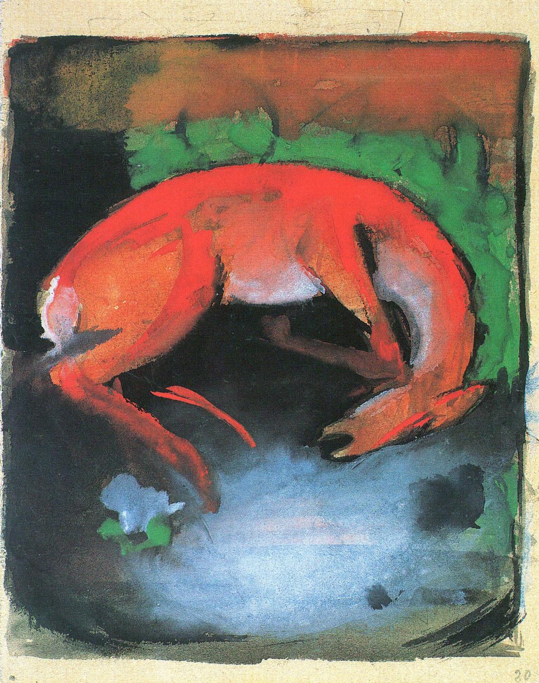 Franz Mark. Dead deer