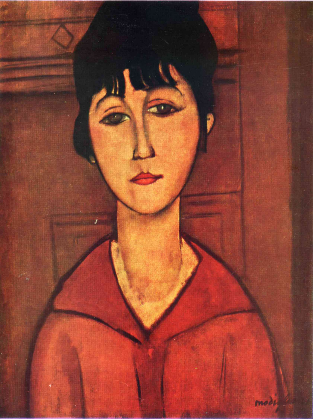 Amedeo Modigliani. Portrait of a young girl
