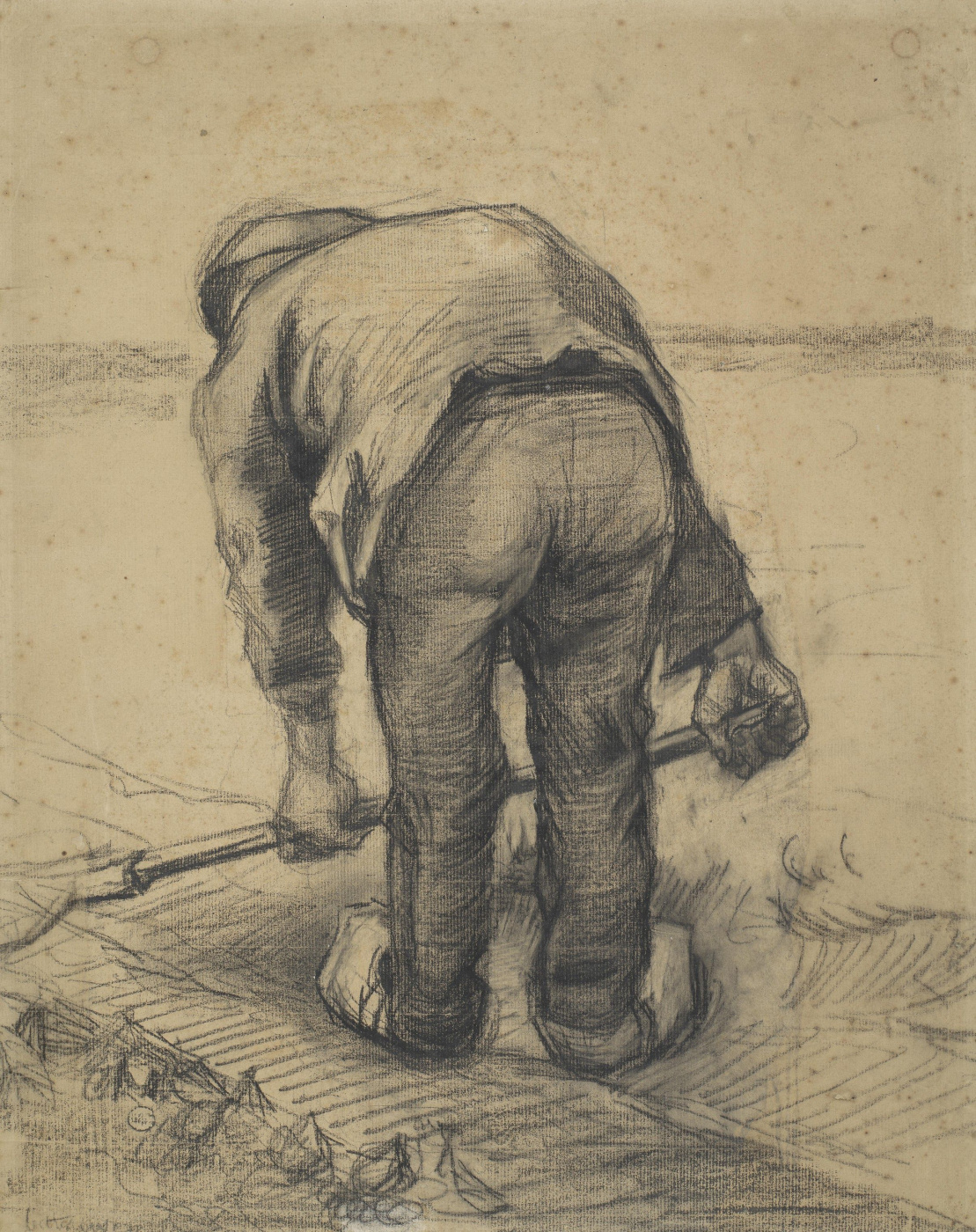 Vincent van Gogh. Farmer Spud beet