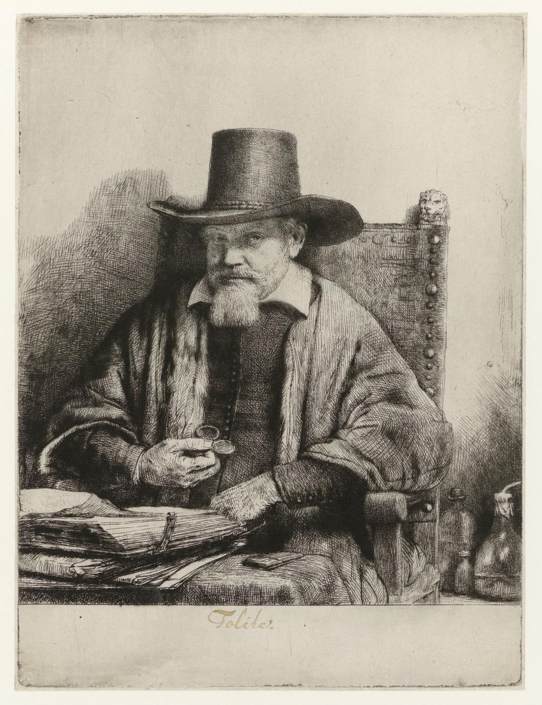Rembrandt Harmenszoon van Rijn. Portrait Of Arnold Tolinks