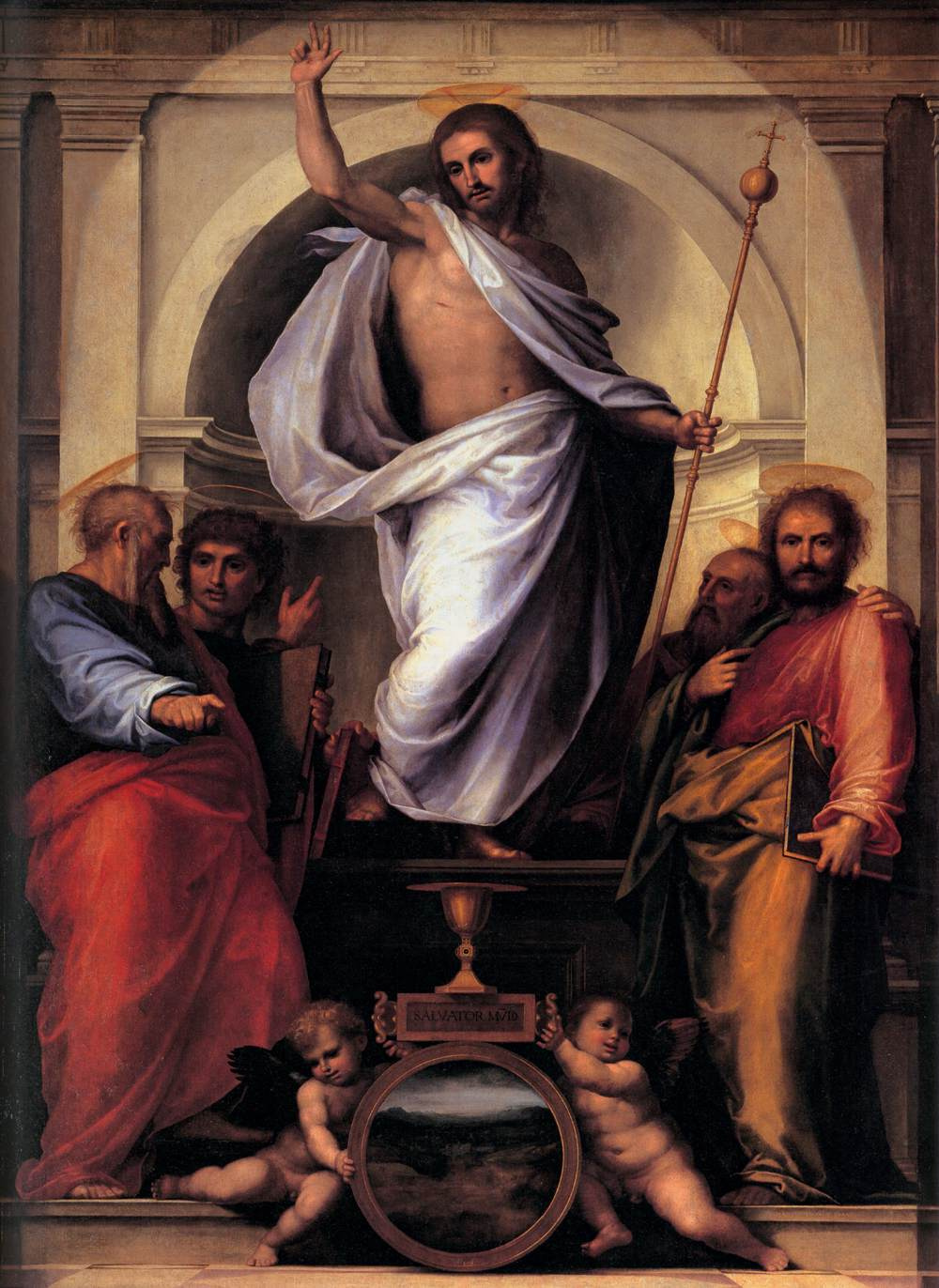 Fra Bartolomeo. Christ with the Four Evangelists