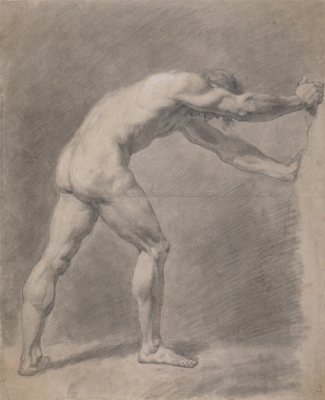 John Constable. A naked man pressed against the wall