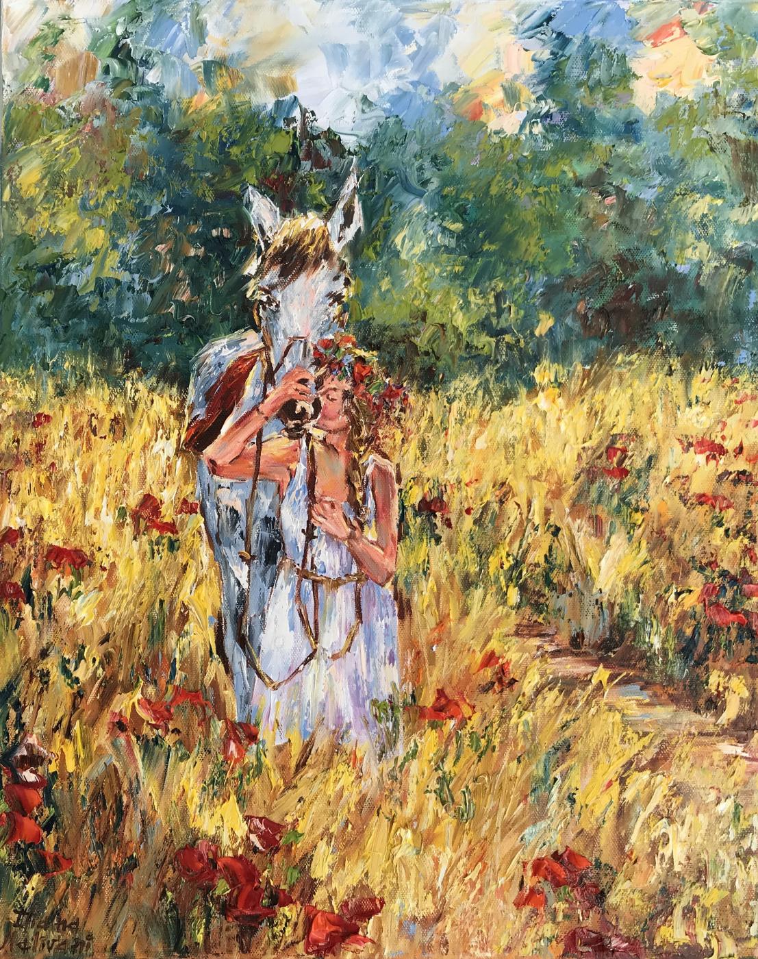 Диана Владимировна Маливани. Poppies at Sunset