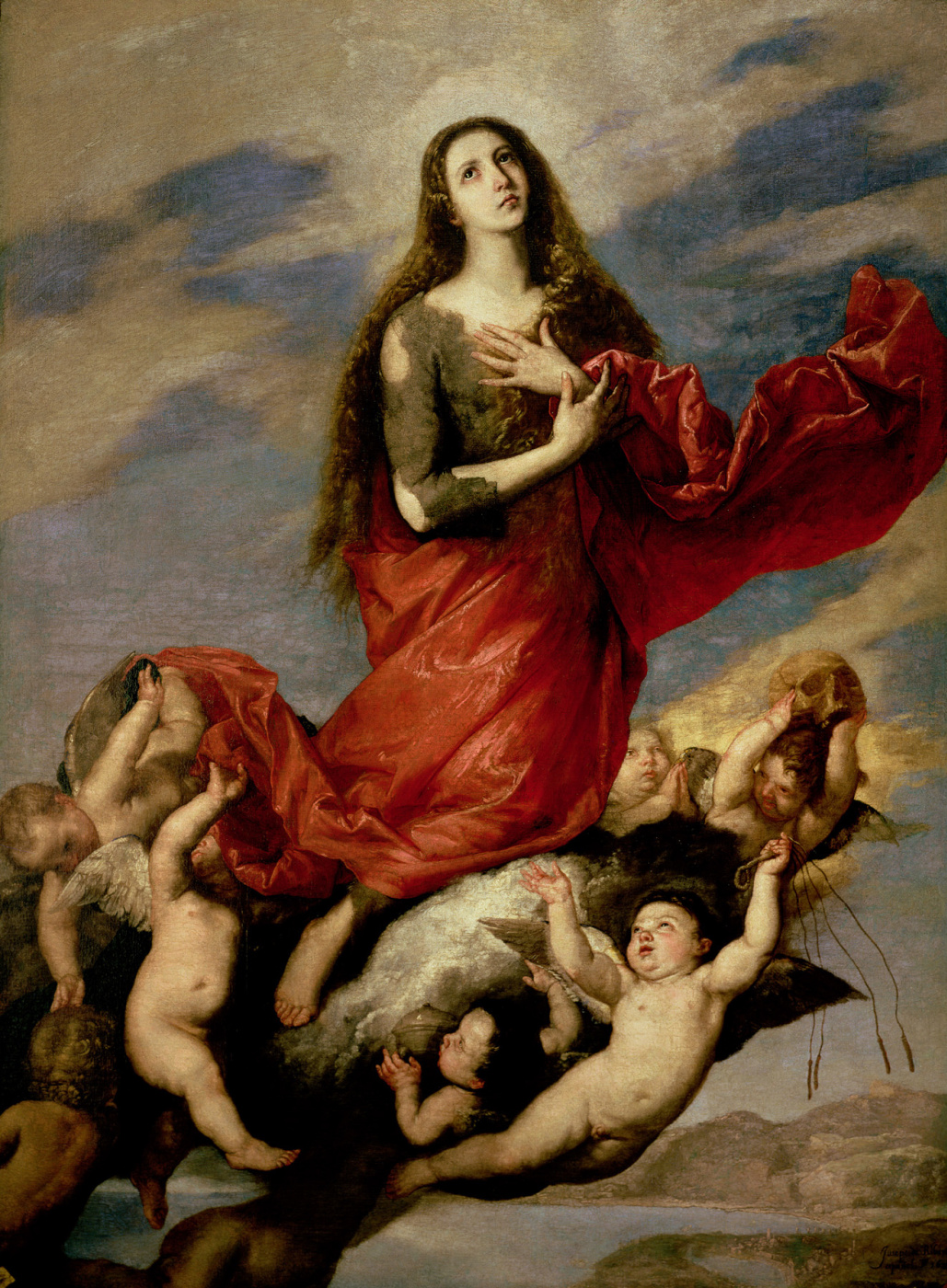 Jose de Ribera. The Transformation Of Mary Magdalene