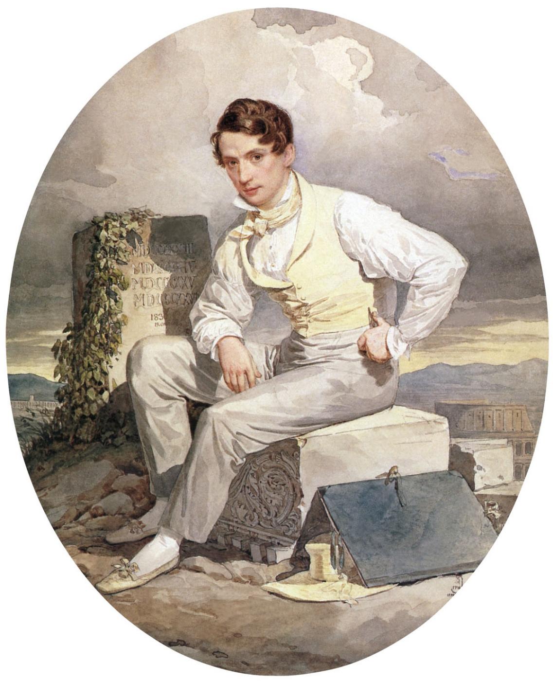 Alexander Pavlovich Bryullov. Self portrait. 1830