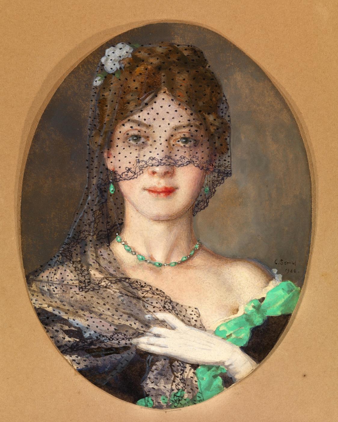Konstantin Somov. Lady beneath the veil (Manon Lescaut)