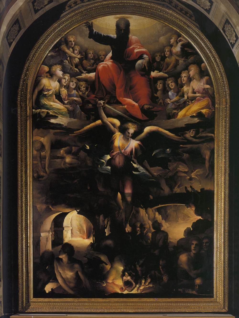 Domenico Beccafumi. The Archangel Michael casting out the rebellious angels