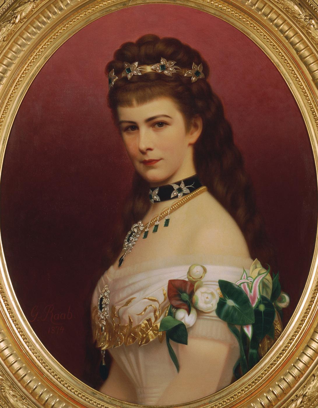 Georg Martin Ignaz Raab. Portrait of Empress Elizabeth of Austria