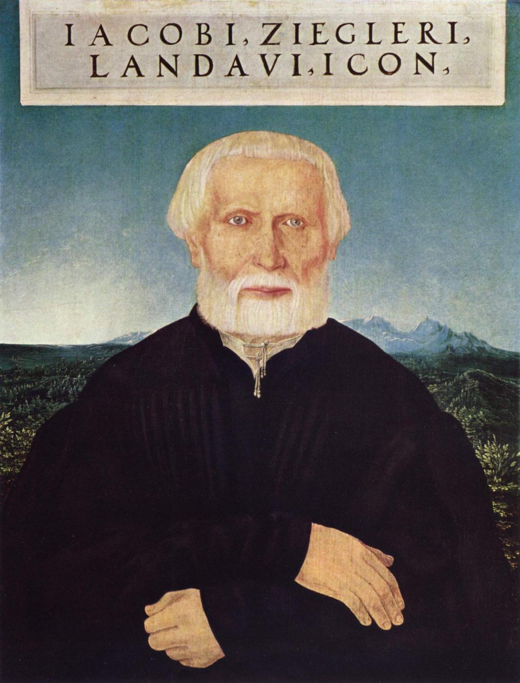 Wolf Huber. Portrait Of Jacob Ziegler