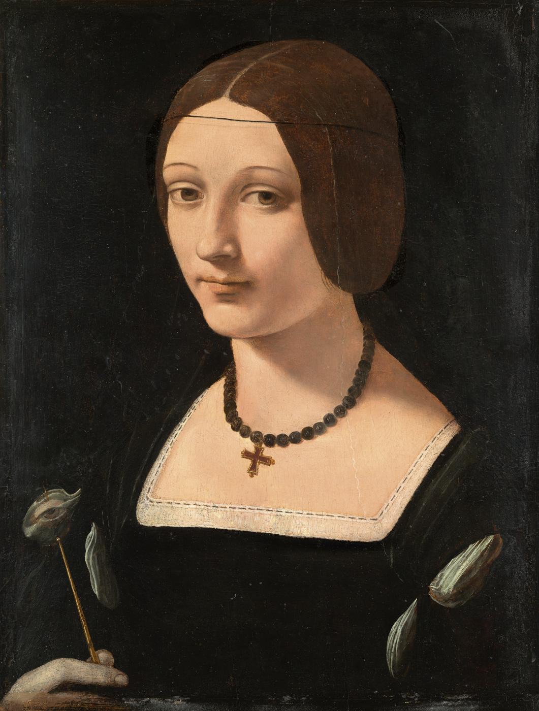 Giovanni Antonio Boltraffio. Portrait of a lady in Saint Lucia