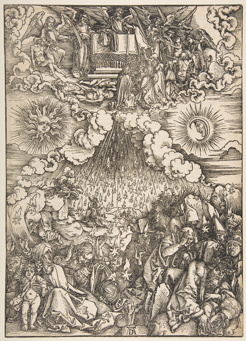 Albrecht Dürer. The opening of the fifth and sixth Seals