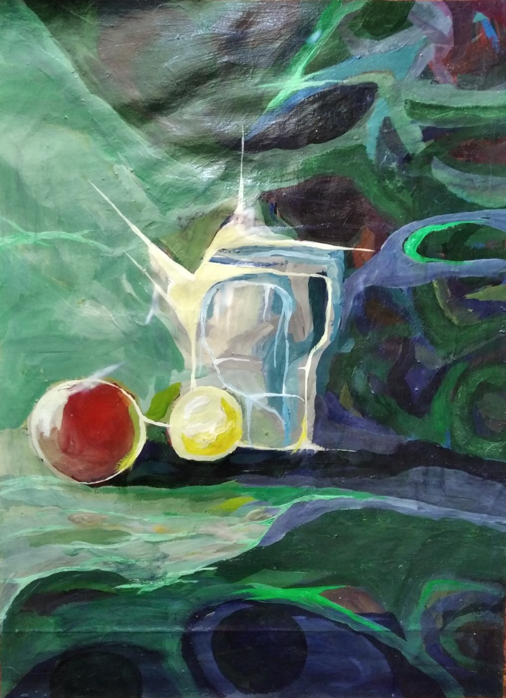Alexandr Glukhov. Натюрморт в зеленых тонах
