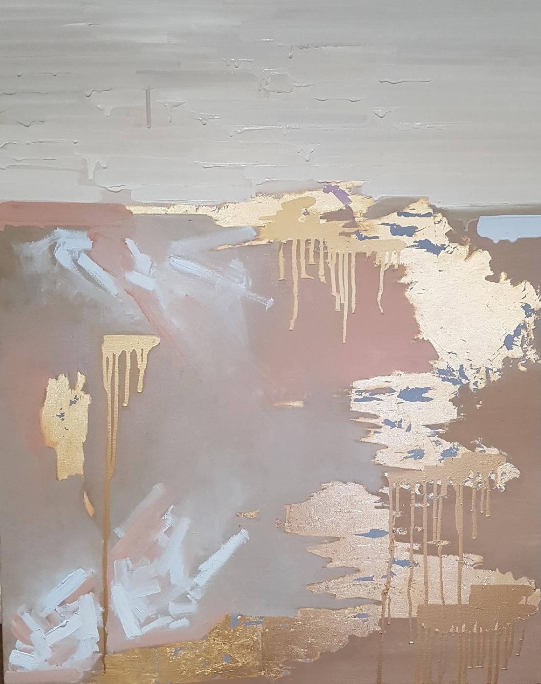 Larissa Uvarova. Abstract painting You are my gold