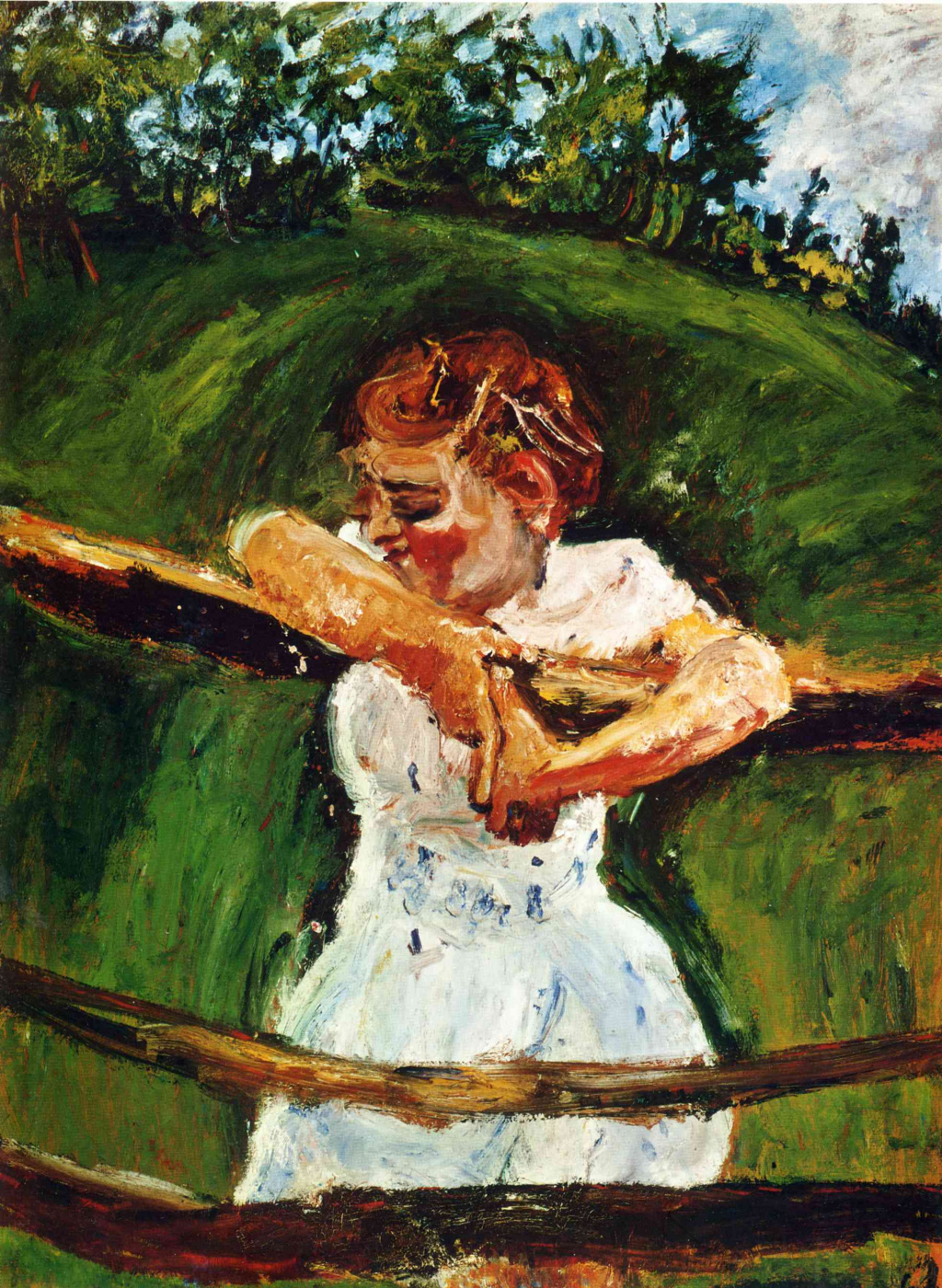 Chaim Soutine. The girl on the fence