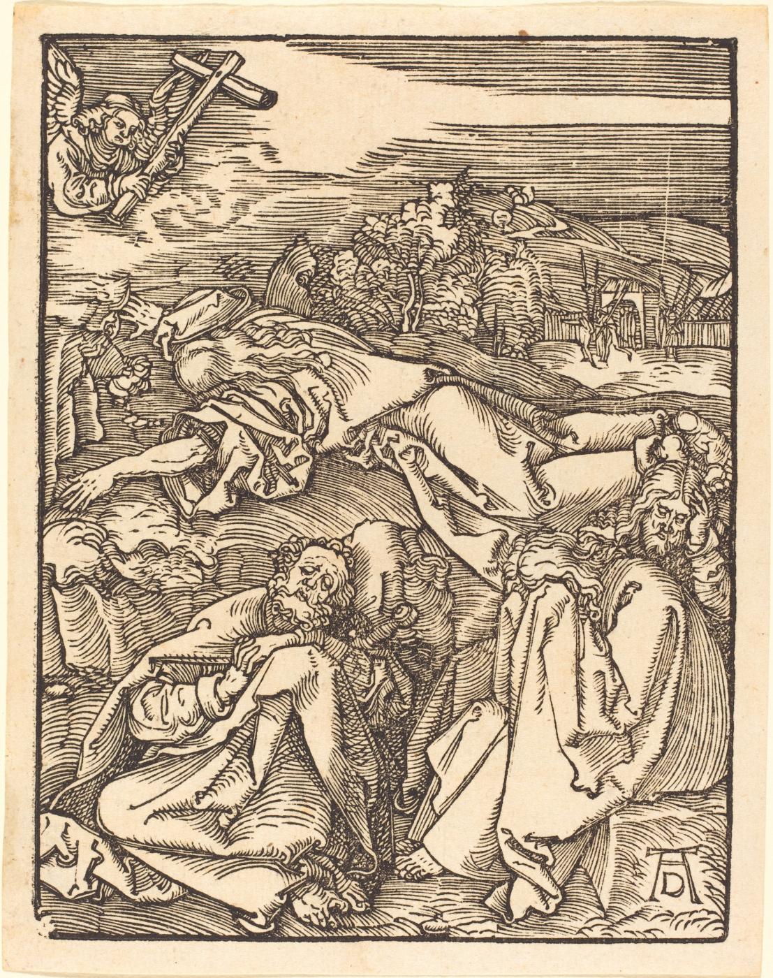 Albrecht Durer. Christ on the mount of olives. Agony in the garden