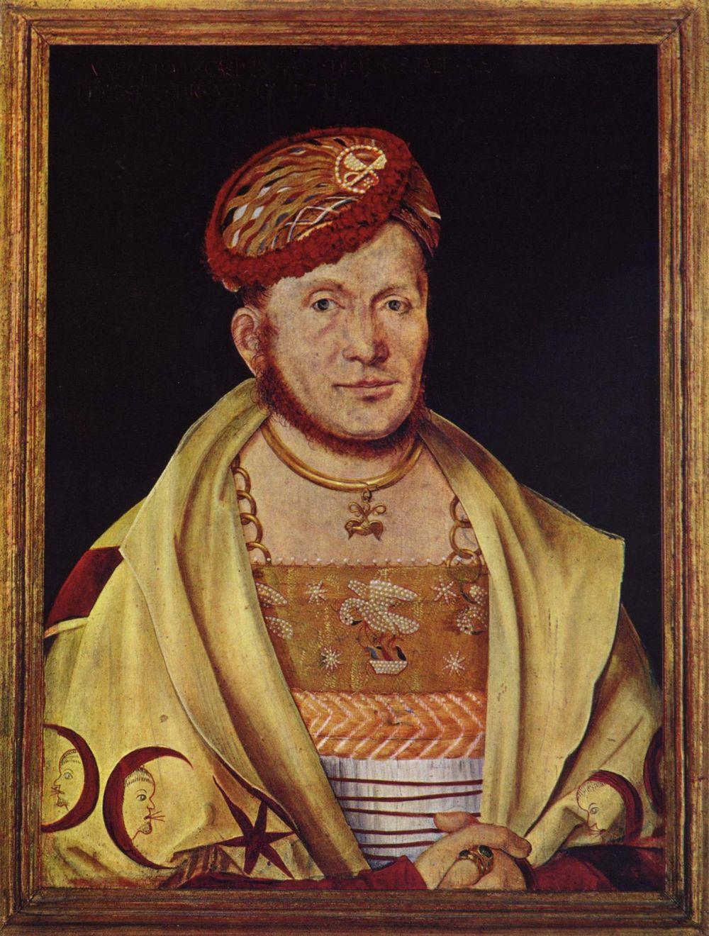 Hans Süs background Kulmbach. Portrait of the Margrave Casimir of Brandenburg