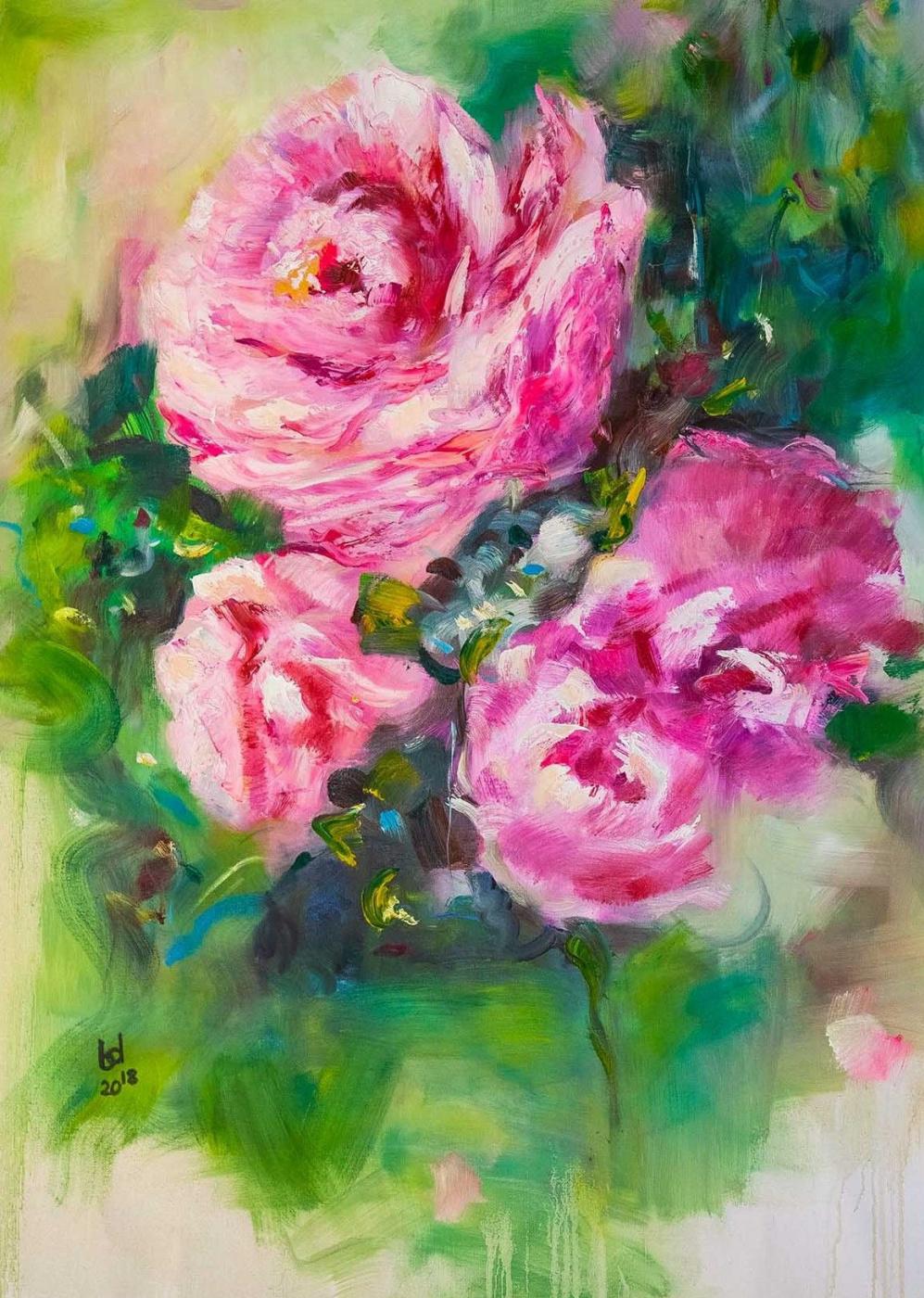 "Brian dupre. Wild rose N2, ""In the Blooming Garden"" series"