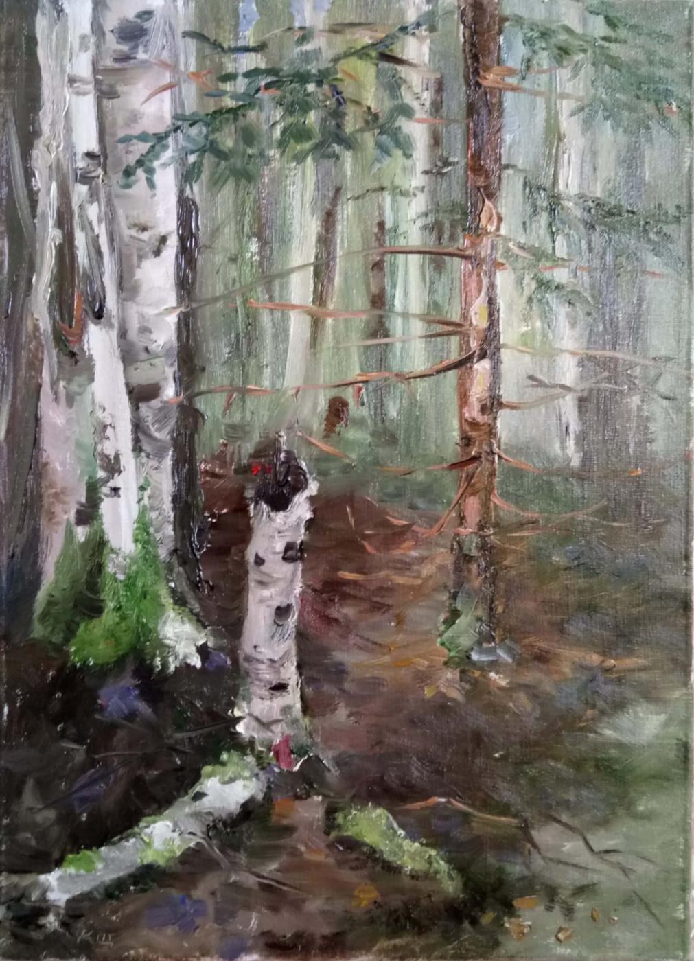 Кристина Щекина. Forest. Etude